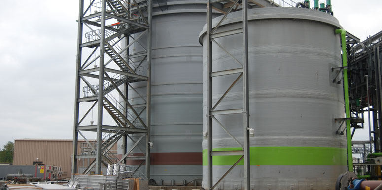 Fiber Reinforced Plastic Tank with a Corrosion Barrier, Exterior Coated with Gel Coat with a UV-9 Inhibitor